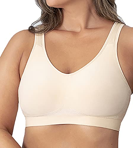 Shapermint Compression Wirefree Support Bra for Women Small to Plus Size Everyday Wear, Exercise and Offers Back Support Nude