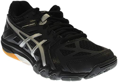 ASICS Women's Gel Court Control Volleyball Shoe, Black/Silver, 10 M US