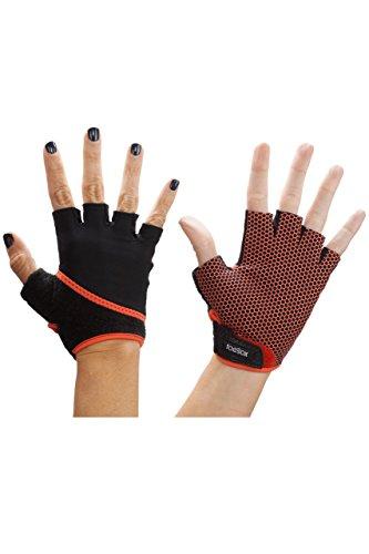 Toesox: fingerlose Yoga-Handschuhe für Damen und Herren, 1 Paar Gr. M, grau