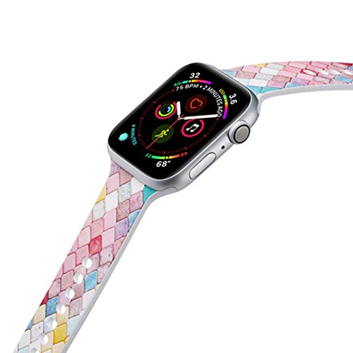Correa de silicona pintada para Apple Watch Band 44 mm 40 mm iwatch Band 38 mm 42 mm Pulsera deportiva Goma para Apple Watch SE 6 5 4 3 2 1