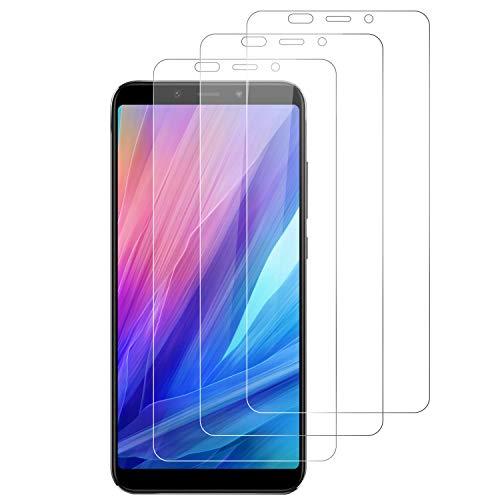 RIIMUHIR 3 Pack Protector De Pantalla De Vidrio Templado Xiaomi Mi A2, Película Transparente HD, Anti Huella Digital, Compatible con Estuches, Anti-Aceite, Sin Burbujas