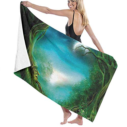 chillChur-DD Bath Towel Badetuch Wrap Moon Tree Prints Womens Spa Dusche und...