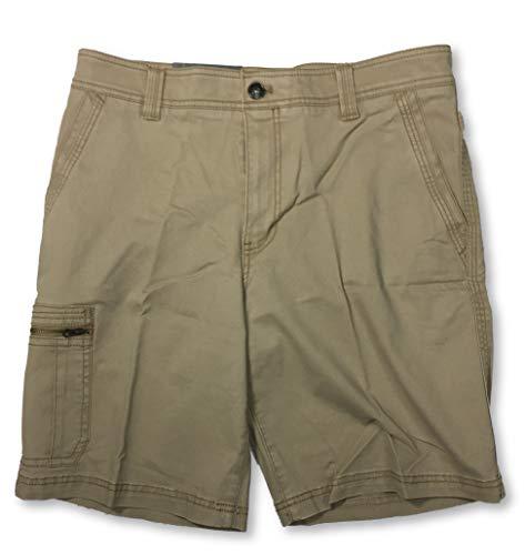 G.H. Bass & Co. Men's Flex Waistband Stretch Shorts Cedarwood Khaki (36)