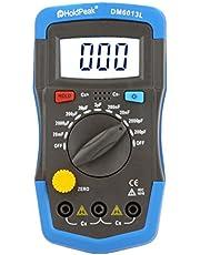 Roeam Capacimetro Condensadores Digital Profesional pf/mf/μf,Medidor Capacitancia Eléctrica Probador con Cable de Prueba Pantalla LCD, Luz de Fondo