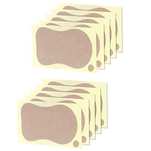 El sudor de ratón Bloque Toallitas axilas anti Perspirant pegatinas verano de las mujeres axila Desodorantes para la camiseta de la ropa 10PCS, Pads sudor