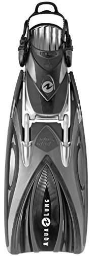 Aqua Lung Slingshot Power Fins - Black/Silver, SM