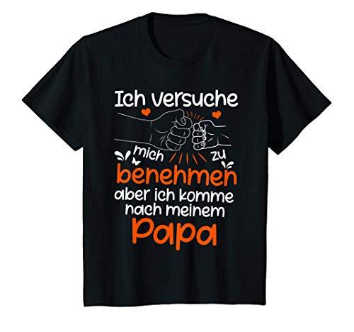 Kinder Ich versuche mich zu benehmen Papa lustiges Kinder Spruch T-Shirt