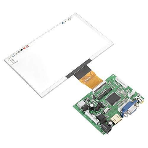 7 Zoll LCD TFT Anzeigemodul 1024 * 600 HDMI VGA Bildschirm mit Monitor Fernbedienung USB Kabeltreiberplatine für Raspberry Pi 3/2 NEIN MEHRWEG VERPACKUNG