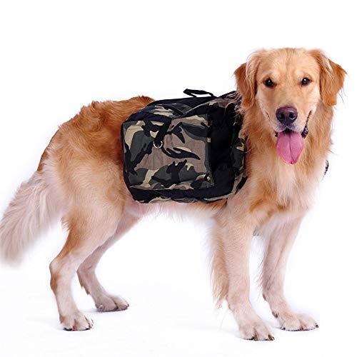 PQXOER-PE Hundesatteltasche 2 in 1 Hunde-Rucksack, Haustier-Tragetasche, Wanderausrüstung, atmungsaktiv, für Reisen und Camping, für mittelgroße und große Rassen