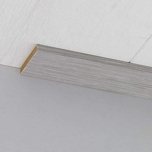 Abdeckleiste Abschlussleiste Sockelleiste Wandschutzleiste aus MDF in Allure Grau 2600 x 6 x 40 mm
