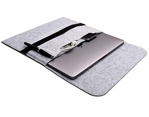 denc_shop feltro borsa del computer portatile per Apple MacBook Pro 13dal 2016Sleeve Custodia 13,3pollici (colore: grigio chiaro)
