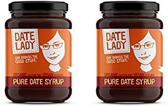 Date Lady Organic Date Syrup 12 Ounce Glass Jar | Vegan, Paleo, Gluten-free & Kosher (2-Pack)