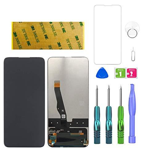 LWMTT Ecran pour Huawei P Smart Z, Y9 Prime 2019 Noir, Écran LCD de numériseur Tactile Remplacement + Kit d'Outils de Réparation Complet + Adhésif Feuille en Verre Trempé