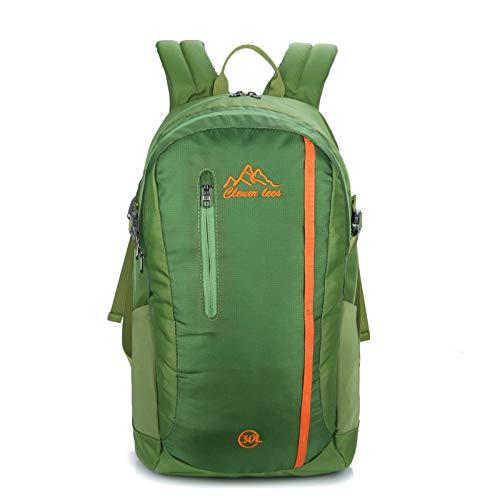 YHSW Sac à Dos de randonnée étanche, Grande capacité, adapté aux Hommes et aux Femmes, Fitness Sportif, Voyages en Plein air, Camping en Plein air Vert B 33x49x14cm
