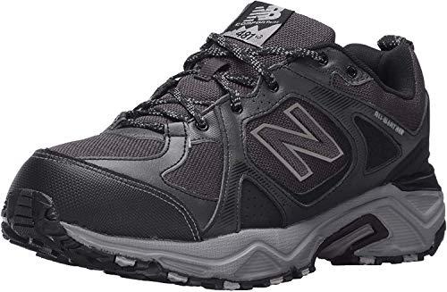 New Balance Men's 481V3 Water Resistant Cushioning Trail Running Shoe, Black/Grey, 10 D US