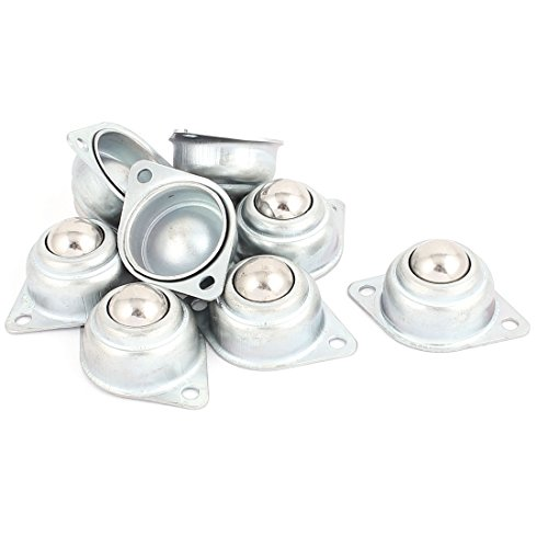 uxcell 8 Pcs 16mm Dia Metal Ball Transfer Bearing Unit Casters Universal Wheel