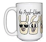 No Prob Llama Funny Coffee Mug Humor - Cute Kawaii Cartoon Puns