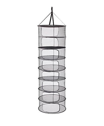 LABT Trocknungsnetz Drynet Grow Netz Trockennetz Hängetrockner Drying net zum Aufhängen mit Durchmesser 60 cm x 8 Fächern zusammenfaltbar