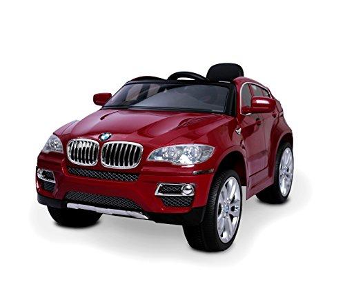 Macchina elettrica Rossa LT847 per Bambini BMW X6 monoposto 12V con Telecomando. Media Wave Store