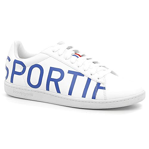 Le Coq Sportif Unisex-Erwachsene Courtset Sneaker, Weiß (Optical White/Cobalt Optical White/Cobalt), 44 EU