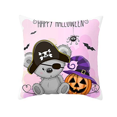 GDBEST Halloween Cushion Cover Decorative Owl Series Pillow Cover Waist Throw Pillow Cover Creative Lovely Pillowcase for Sofa Couch Cafe Bedroom Home Decor Gifts Economic Pillow Case(18' x 18')