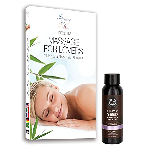 Sensual Massage for Couples DVD and 100% Natural 2 oz Earthly Body Hemp Seed Lavender Massage & Body Oil