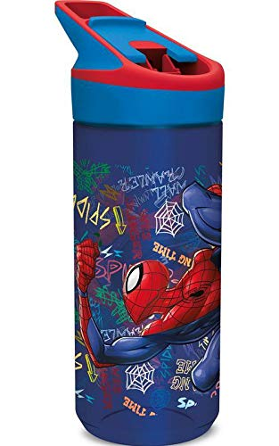SPIDERMAN Trinkflasche Tritan Premium Graffitti' Home Unisex Erwachsene, Komposite, Schwarz