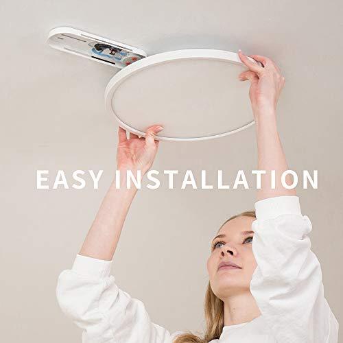 Ultra-dünne 22W Ø 32CM Deckenlampe Kinderzimmerlampe Rund Deckenleuchte flach LEDDeckenleuchteLicht für Wand- und Deckenmontage (6500K)