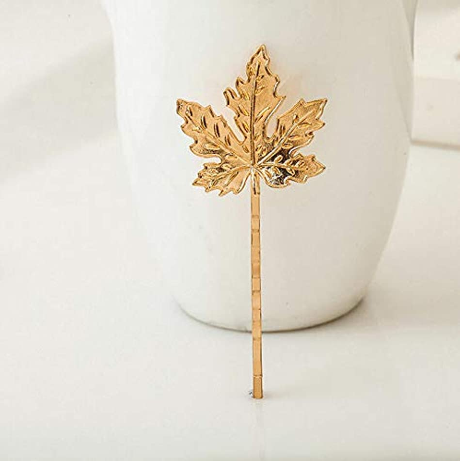 Fashion Women Geometry Animal Flower Hairpin Hair Clip Stick Hair Accessories (Design - #1 Gold Leaf)