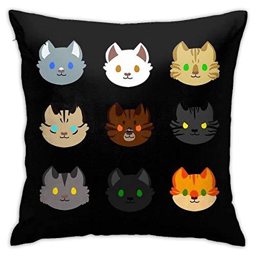 INGXIANGANCHI ZHUHOO Warrior Cats Prophecies Schlafzimmer Couch Sofa Quadratischer Kissenbezug Home Dekorative Überwurfkissenbezüge 18x18 Zoll
