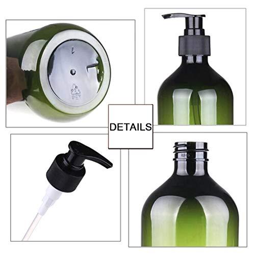 Rann.Bao 2 Stück Pumpspender Sprühflasche-300ML, Make-up-Flasche, Runde Schulter Kosmetikbehälter, Gewindedüse Presspumpe, Wiederverwendbare Leere PET-Flasche (Braun)