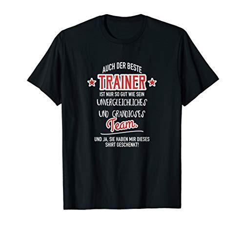 Bester Trainer Grandioses Team Geschenk für Trainer T-Shirt