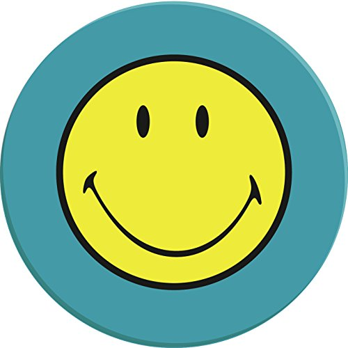 Zak Designs Handels 6662-0843 Smiley Teller Aqua Blau, 20 cm
