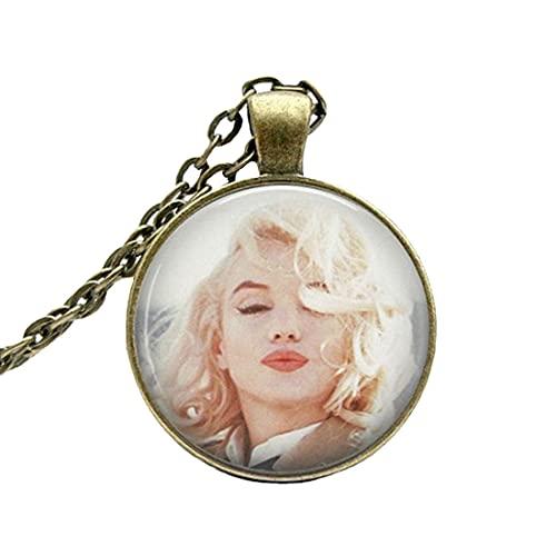 Marilyn Monroe Collar: Besos. Foto colgante de cristal colgante