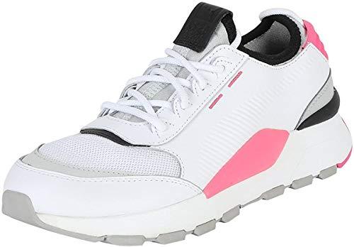 PUMA Unisex Sneakers RS-0 Sound – Retro-futuristische Turnschuhe aus Leder für Damen und Herren mit griffiger Gummi-Laufsohle RS-0 Sound Wht-GrayViolet-KNOCKOUTPINK UK 5_Adults_FR 38