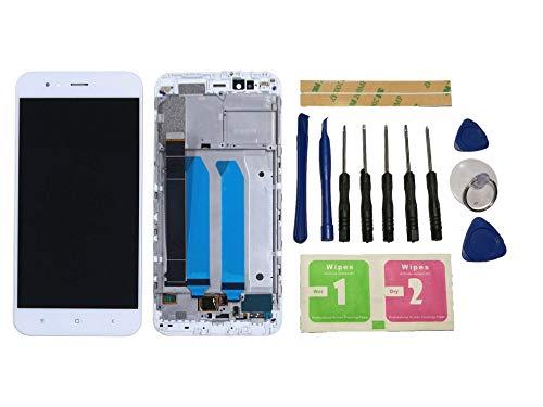 Flügel para Xiaomi Mi 5X / Mi A1 MiA1 Pantalla LCD Pantalla Blanco Táctil digitalizador Completo Pantalla (con Marco) de Recambio & Herramientas