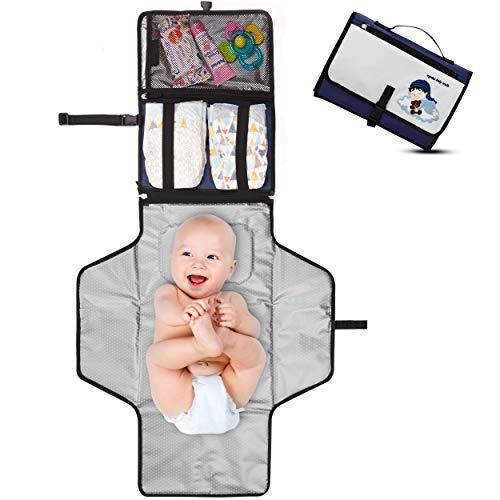 Cambiador Portátil de Pañales para Bebé - Kit Cambiador de Viaje -...