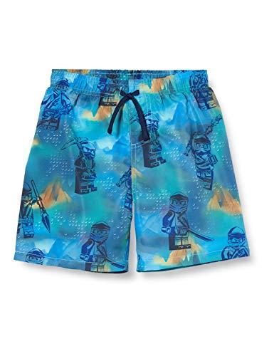 Lego Wear Jungen Lwpatrik Ninjago Lsf 50 Plus Badeshorts, Blau (Light Blue 525), (Herstellergröße: 104)