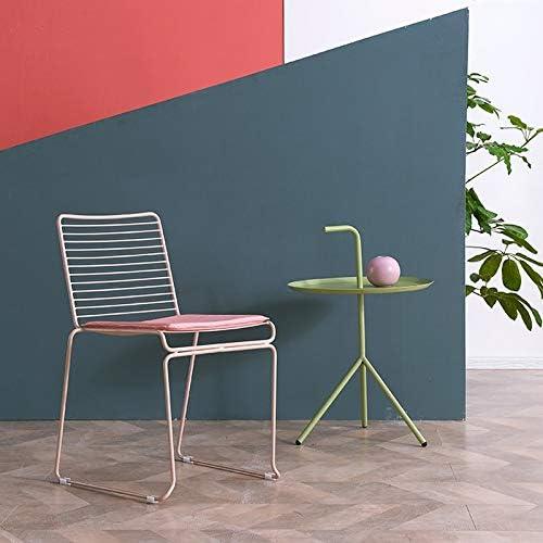 LAOMAO Chaise en métal/Chaise Longue/Chaise de Salle à Manger/Chaise de Jardin, réglée pour Le Restaurant en Plein air de terrasse de café-Restaurant (Couleur : Noir) Pink