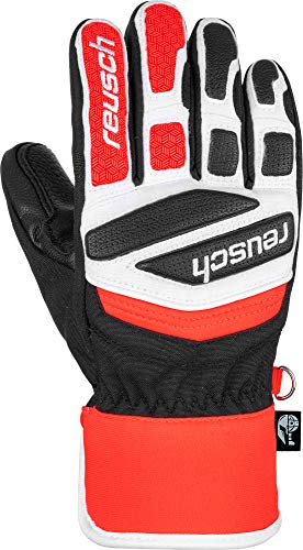Reusch Kinder Reusch Worldcup Warrior Prime R-tex Xt Junior Handschuh, black white fluo red, 6.5 EU