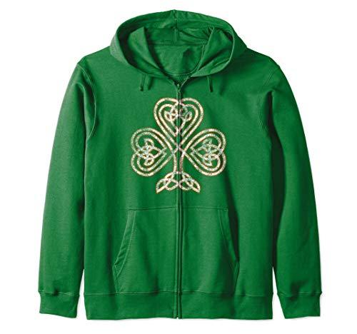 Celtic Knot Trinity Shamrock Irish Heritage Ireland Zip Hoodie