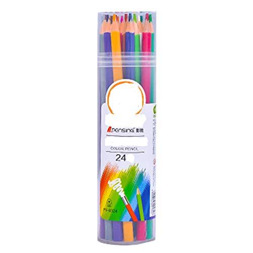 Buntstifte (24er Pack) von Hochwertige Kunst-Buntstifte für Kinder Erwachsene Künstler Skizzenzeichner Perfekt für das Buntmalen der Erwachsenen Schulprojekte Zeichnen mehr