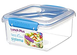 Sistema Lunch Plus plastic food container with cultery