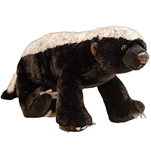 XYXDHGQD Honey Badger Soft Toy - Stuffed Animals & Plush Toys, Model Animal Toys,15.7in Africa Wild Animals Doll Pillow Cushion, Kids Boys Toys Gift Home Room Decor Plush Toy