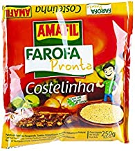 Geröstetes und gewürztes Maniokmehll, Beutel 250g - Farofa Pronta Costelinha AMAFIL 250g