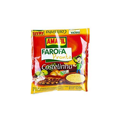 Harina de Yuca tostada y especiada, 250g - Farofa Pronta Costelinha AMAFIL 250g
