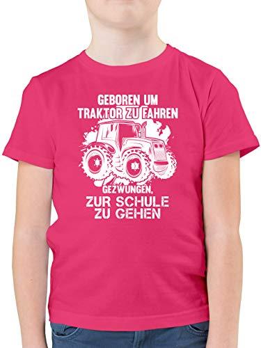 Fahrzeuge Kind - Geboren um Traktor zu Fahren - 152 (12/13 Jahre) - Fuchsia - Traktor Tshirt Kinder 152 - F130K - Kinder Tshirts und T-Shirt für Jungen