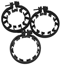 Sunrise Adjustable Follow Focus Gear Ring for DSLR Lens, 3 Pieces Suitable for Lens Sizes Between: 180-220mm, 211-250mm, 241-280mm