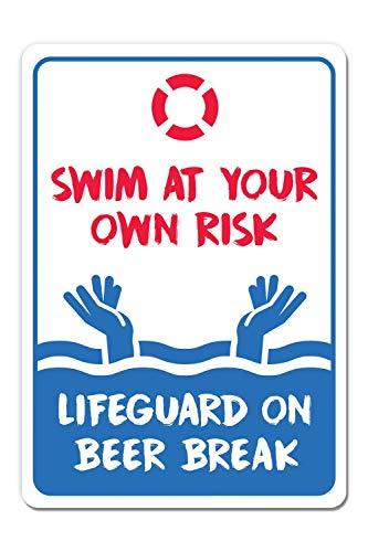 Pool Rules Schilder