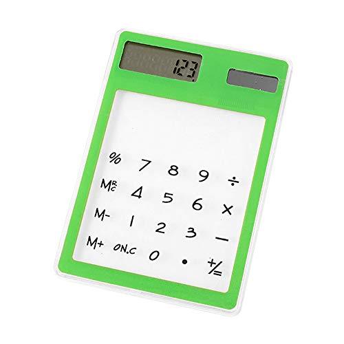 jieGorge Solarrechner, Mini Creative Briefpapier Candy Slim Solar Energy LED Klarer wissenschaftlicher Taschenrechner, Büro- und Schreibwaren (zufällig)